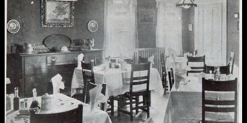 Dining Room at Carroll Inn Circa 1917
